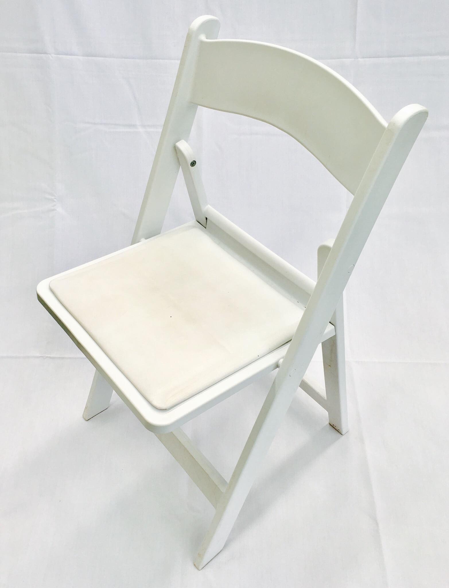 White Padded Folding Chairs Flash Furniture Hercules Series White Wood Folding Chair W
