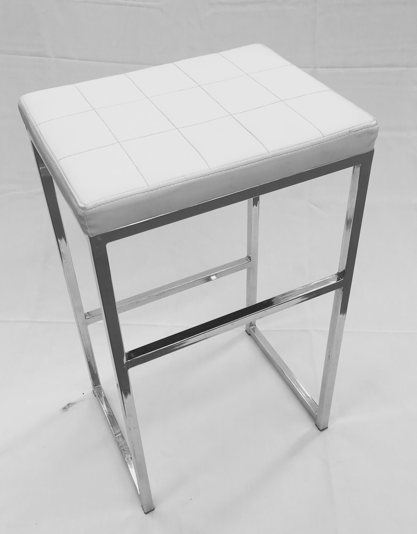 White padded stool