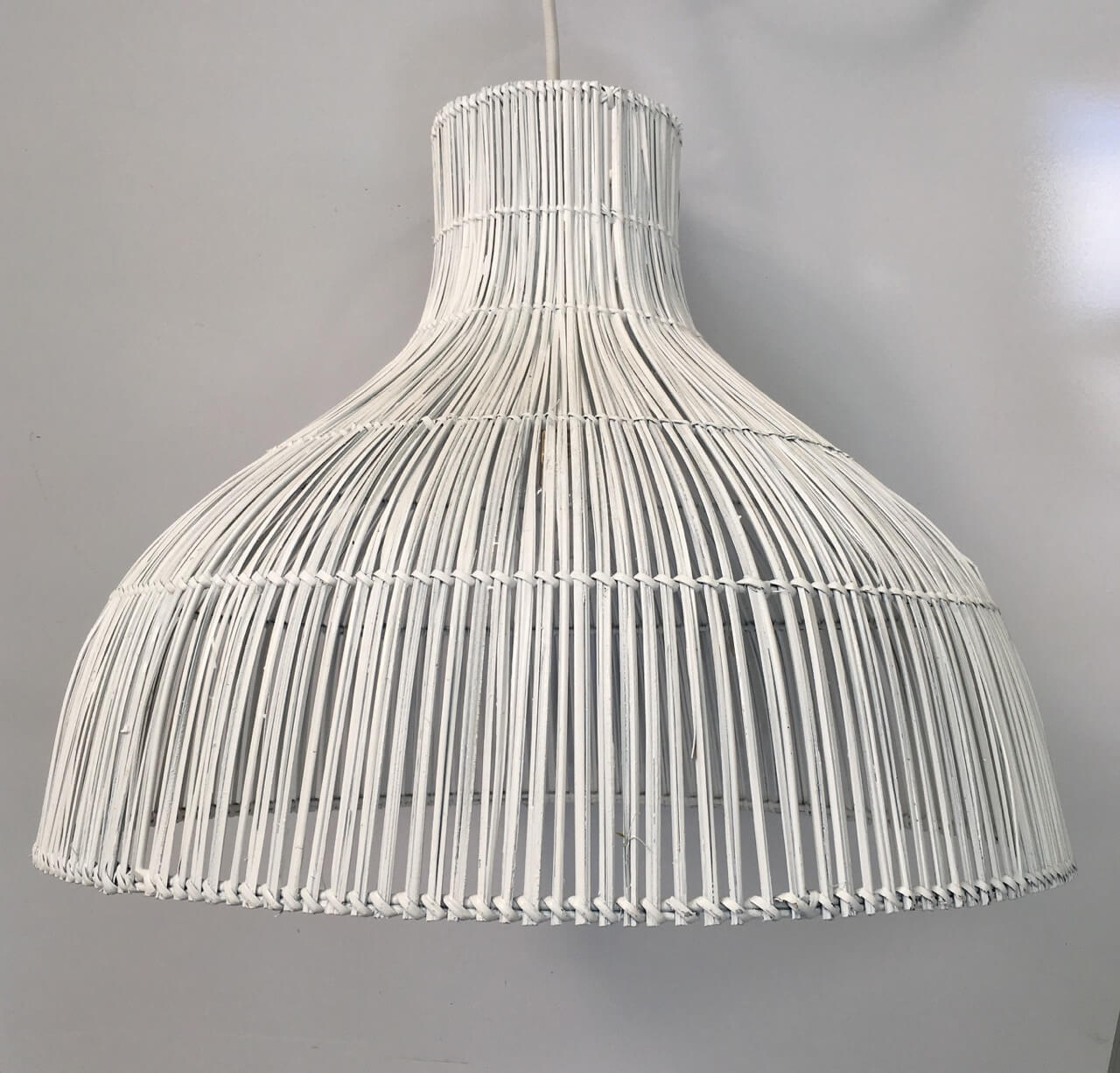 White Rattan Pendant Light